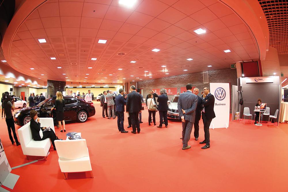 L'area espositiva della edizione di Fleet Manager Academy che si è svolta il 21 ottobre scorso a Verona