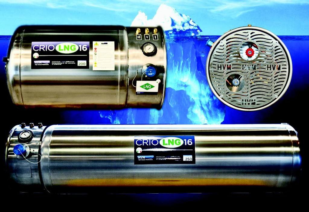 Serbatoi di metano liquido prodotti da HVM