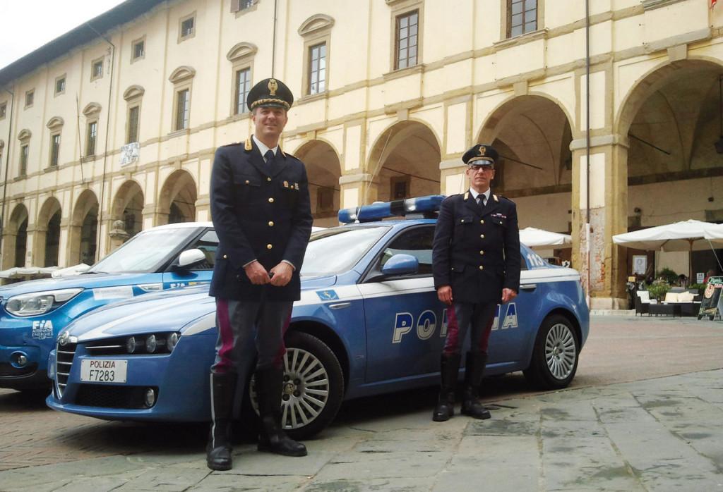 """La Polizia Stradale all'Ecorally per """"Un agente per amico"""", rubrica di Easy Driver su Rai 1"""