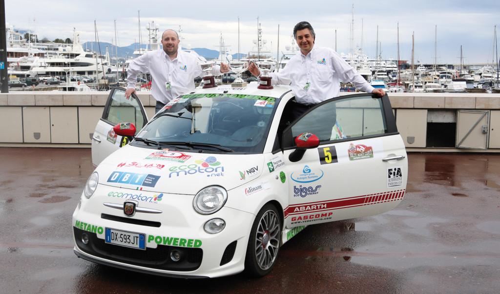 Il team Ecomotori composto da Nicola Ventura e Guido Guerrini